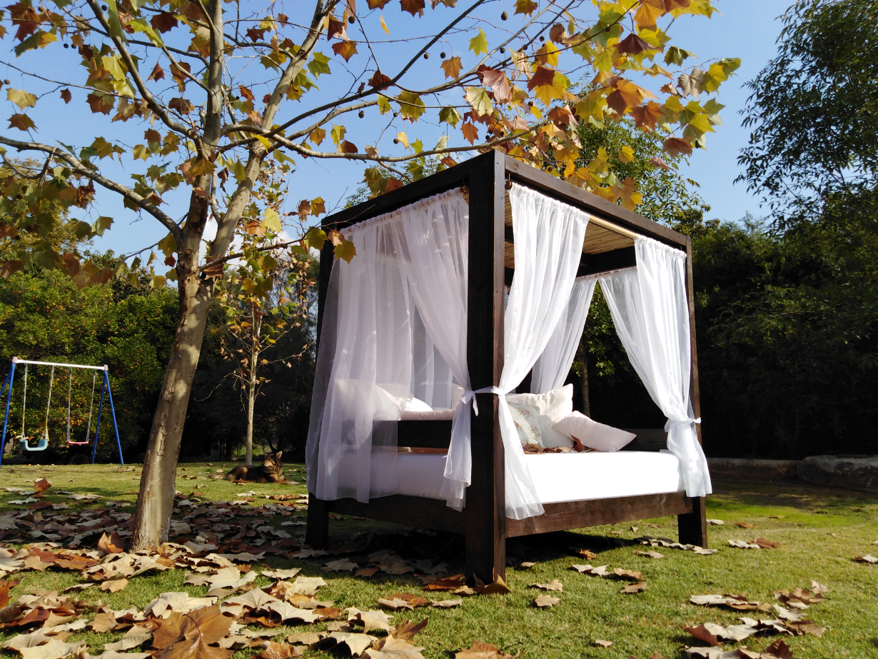 מיטת אפיריון לגינה