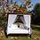 Thumbnail: מיטת אפריון מעץ מלא בצבע אגוז