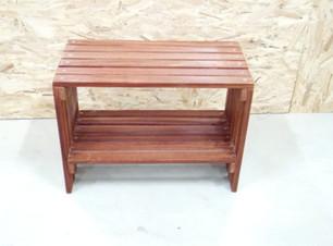 ספסל אמבטיה מעץ איפאה