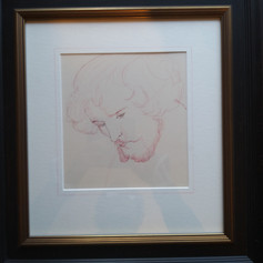 William Morris as a young man in 3 inch Italian black frame
