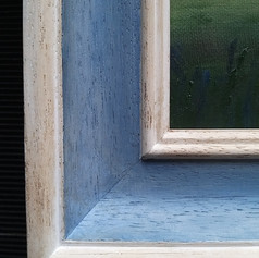 Detail of painted frame for oil painting