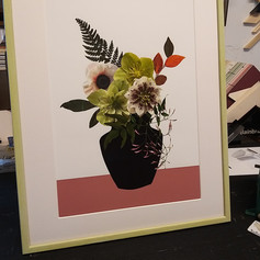 Client requested coloured frame to match a leaf...so we created a new colour