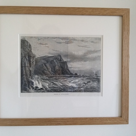 This 1901 engraving was in a poor state and £2 in a Lewes charity shop.  We gave it a conservation mount, small oak moulding and waxed.