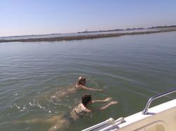 swimming in Venice