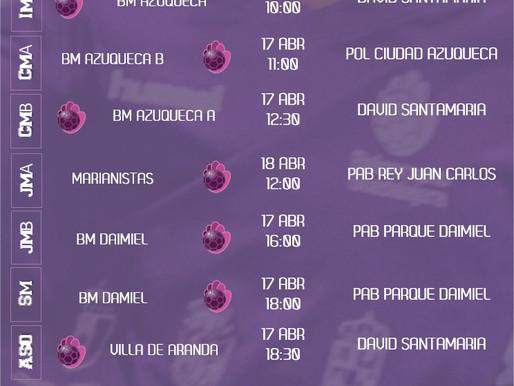 Partidos 17-18 Abril