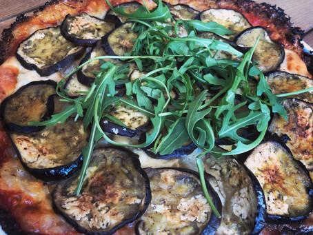 Pizza de Verduritas con base de coliflor