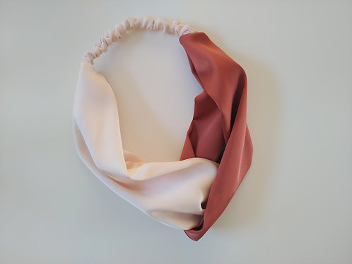 Satin Headband || Two Tone Rust