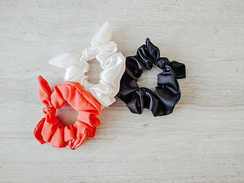 Satin Bow Scrunchies    Assorted Colors
