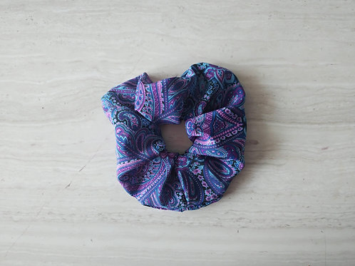 Silk Scrunchie || Purple Waves