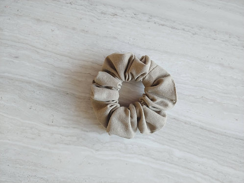 Linen Scrunchie || Earth Tones