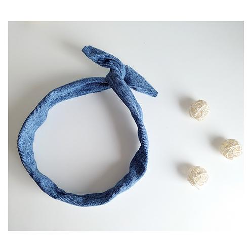 Wire Headband    Denim