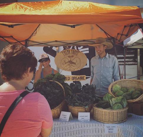 first farmer's market!