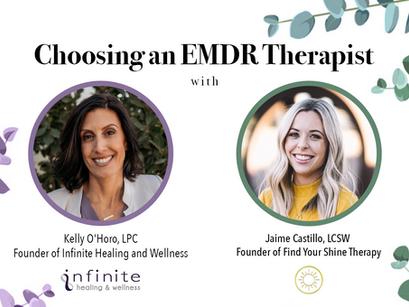 Choosing an EMDR Therapist