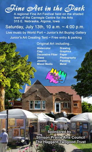 Call for Artists: Algona Fine Art in the Park