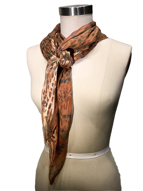 Hand dyed silk scarf by Leni Hoch