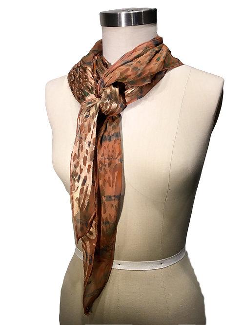 Hand dyed silk scarf by Leni Hoch