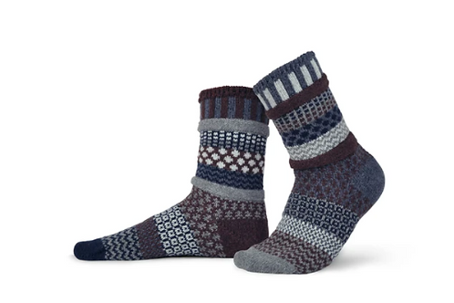 SS04 Solmate Wool Socks, Mahogany, size M only