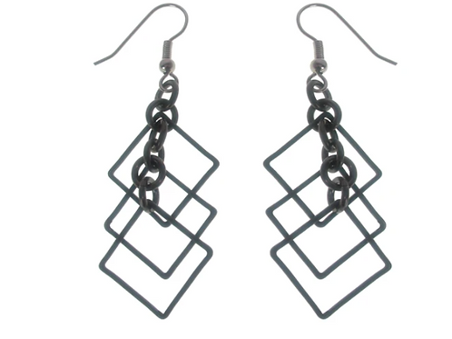 EZN06  Multi square earrings by Erica Zap