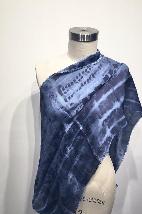 SW02 Hand dyed shibori silk scarf
