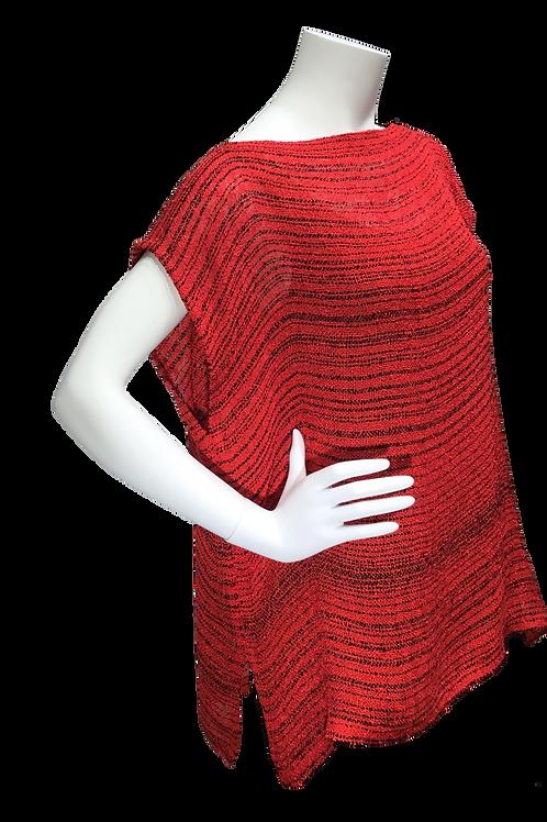 Red Handwoven cap sleeve top