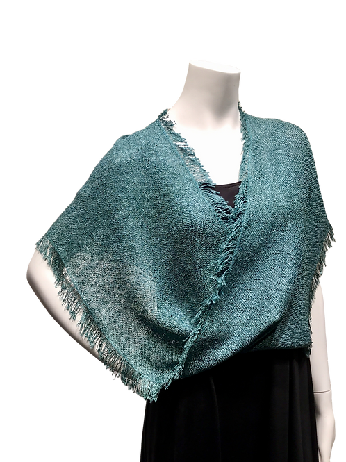 Teal Handwoven Mobius Wrap