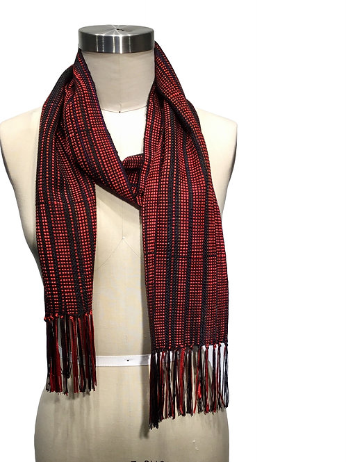 Handwoven Ribbon Scarf by Dahlia