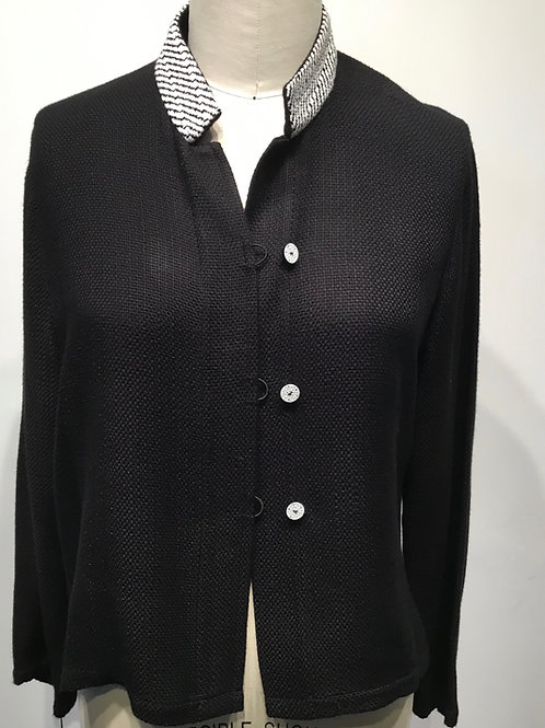 Handwoven and handmade black and white jacket