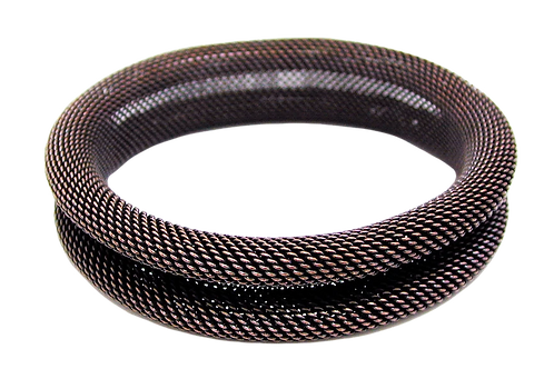 EZN09 Rolled mesh bangle by Erica Zap