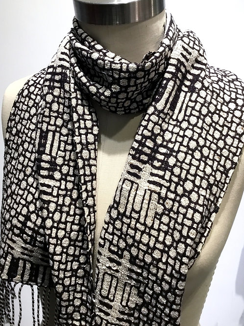 Mosaic Plus Hand woven Scarf by Muffy Young