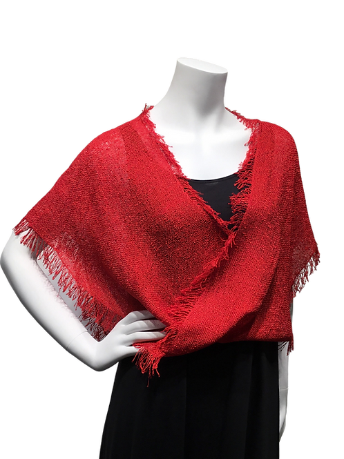 Red Handwoven Mobius Wrap