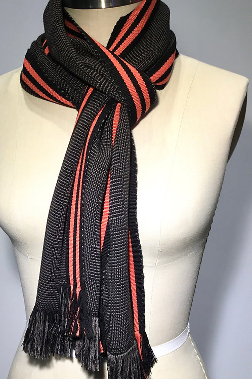 PW17 Hand woven scarf by Pamela Whitlock