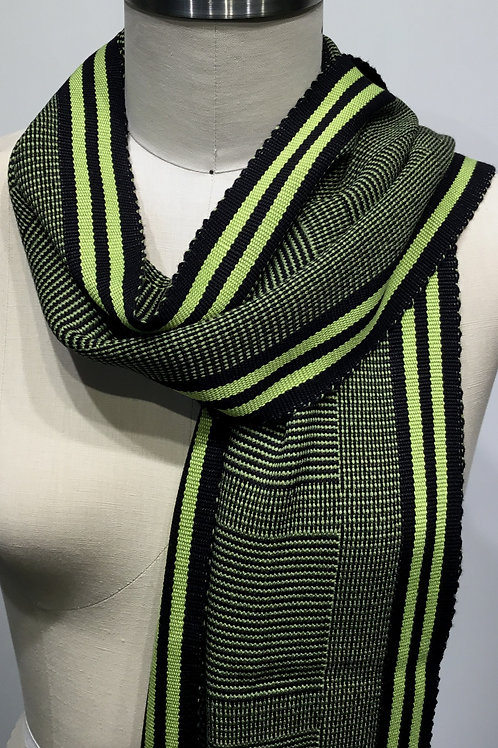 PW10 Hand woven scarf by Pamela Whitlock
