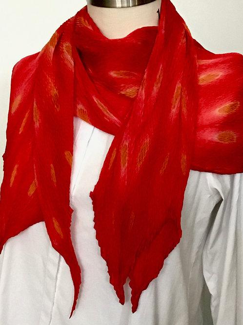LH116 Shibori Silk Scarf by Laura Hunter