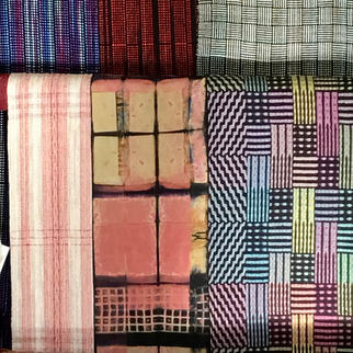 Assorted hand made scarves
