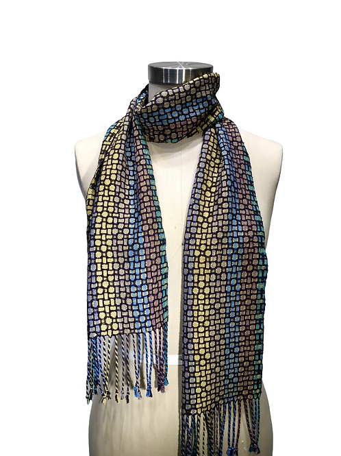 Handwoven and hand dyed Silk Scarf by Muffy Young