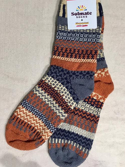 Solmate socks, nutmeg