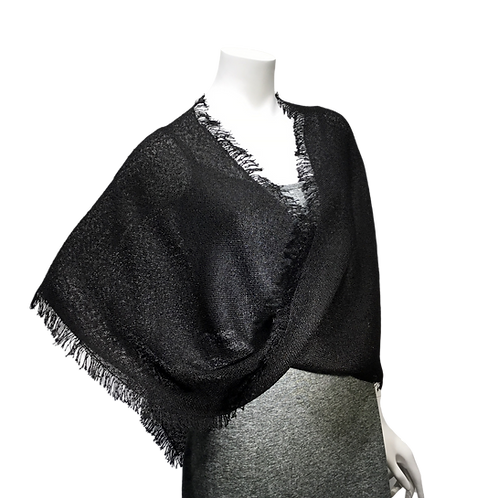 Black handwoven Mobius Wrap