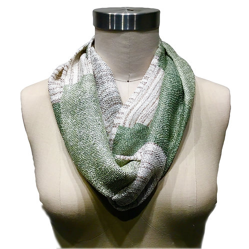 Handwoven Infinity Scarf Double Loop by Dahlia.  One of a Kind Wearable Art