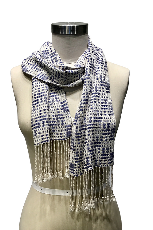 Handwoven and hand dyed scarf by Muffy Young