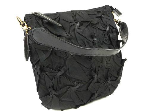 YO 111.  Zippered Shibori bag by Yuh Okano
