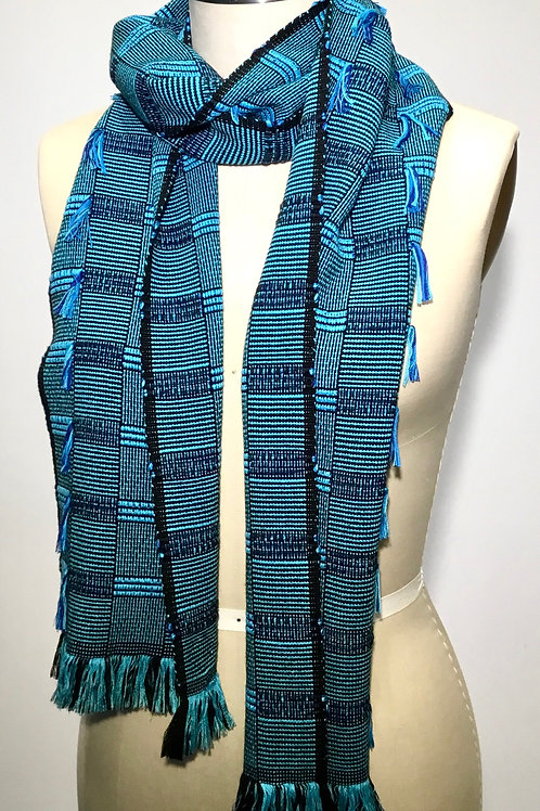 PW15 Handwoven Scarf by Pamela Whitlock
