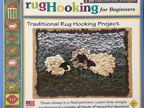 Three Sheep Rug Hooking Project