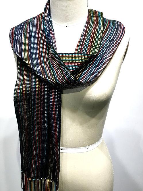 Fiesta Hand woven ribbon scarf by Dahlia