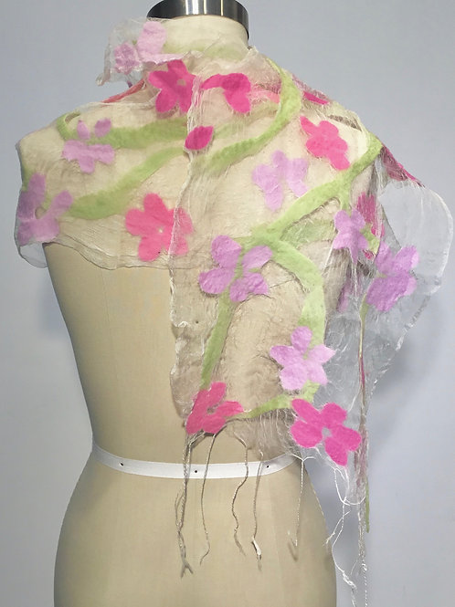 Floral Illusion scarf by Barbara Poole