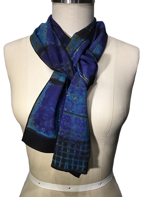 BG11 Hand dyed shibori scarf by Betsy Giberson