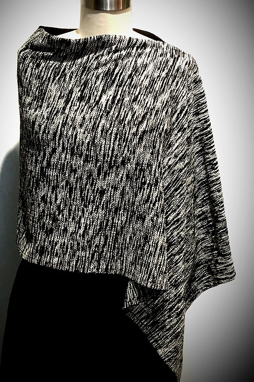 Hand woven chenille poncho