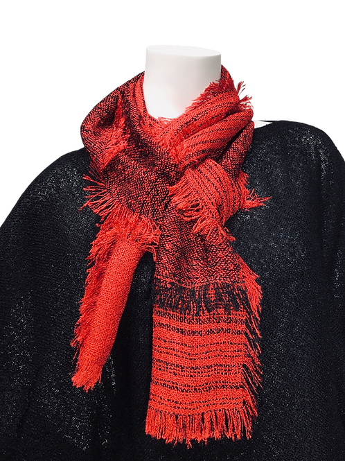 Red Handwoven Lisa Scarf