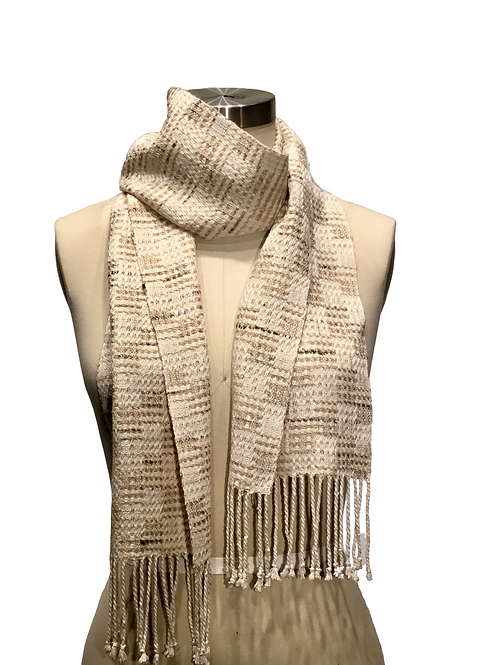 Handwoven Silk Scarf by Muffy Young
