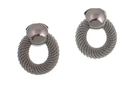 EZN03 Circle Mesh Earrings by Erica Zap