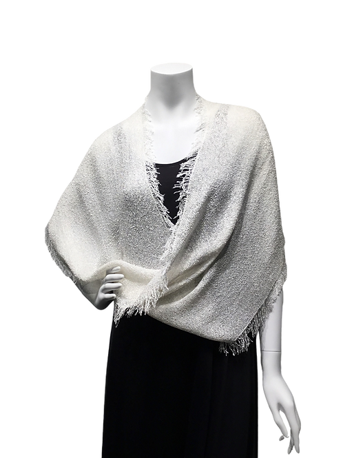 White handwoven Mobius Wrap
